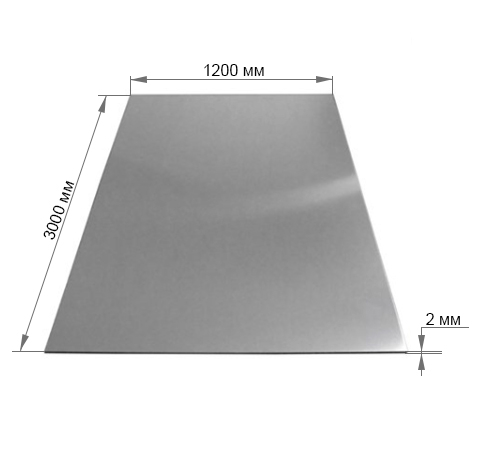Лист алюминиевый АМГ5М 2х1200х3000