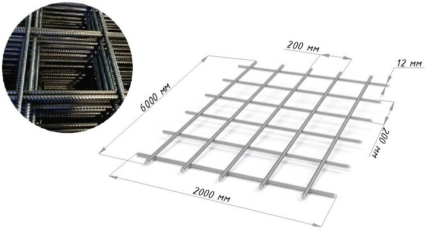 Сетка сварная 200х200х12 В500С