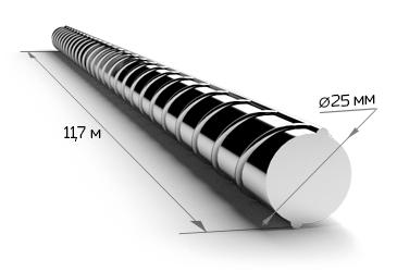 Арматура 25 мм А400 11.7 метров 35ГС