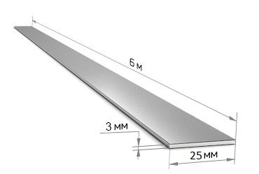 Полоса 25 х 3 (6 м)