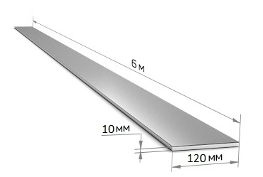 Полоса 120 х 10 (6 м)