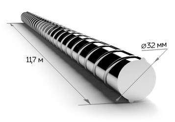 Арматура 32 мм А400 11.7 метров 25Г2С