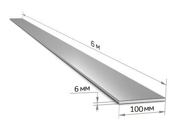 Полоса 100 х 6 (6 м)