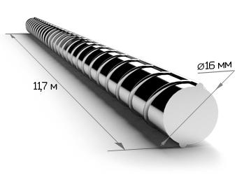 Арматура 16 мм А400 11.7 метров 25Г2С