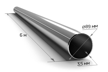 Труба электросварная 89*3 (6 м)