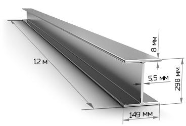 Балка двутавровая 30Б1 12 метров