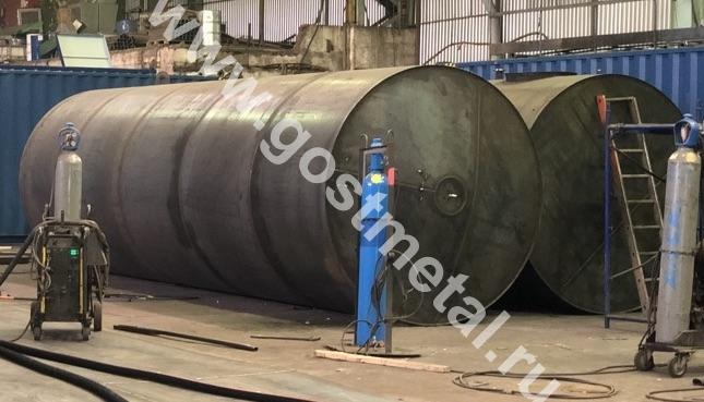 Производство резервуаров в Москве от ГОСТ Металл