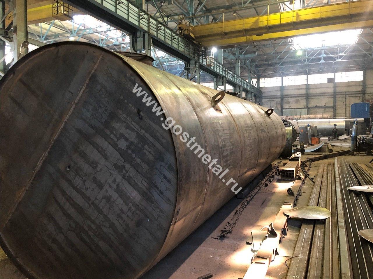 Производство резервуаров стальных в Москве от ГОСТ Металл