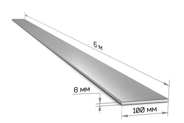 Полоса 100 х 8 (6 м)