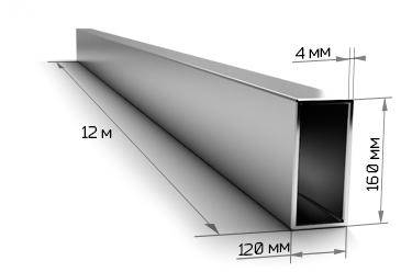 Труба профильная 160х120х4 мм 12 метров