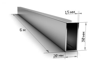 Трубапрофильная 30х20х1.5мм 6 метров