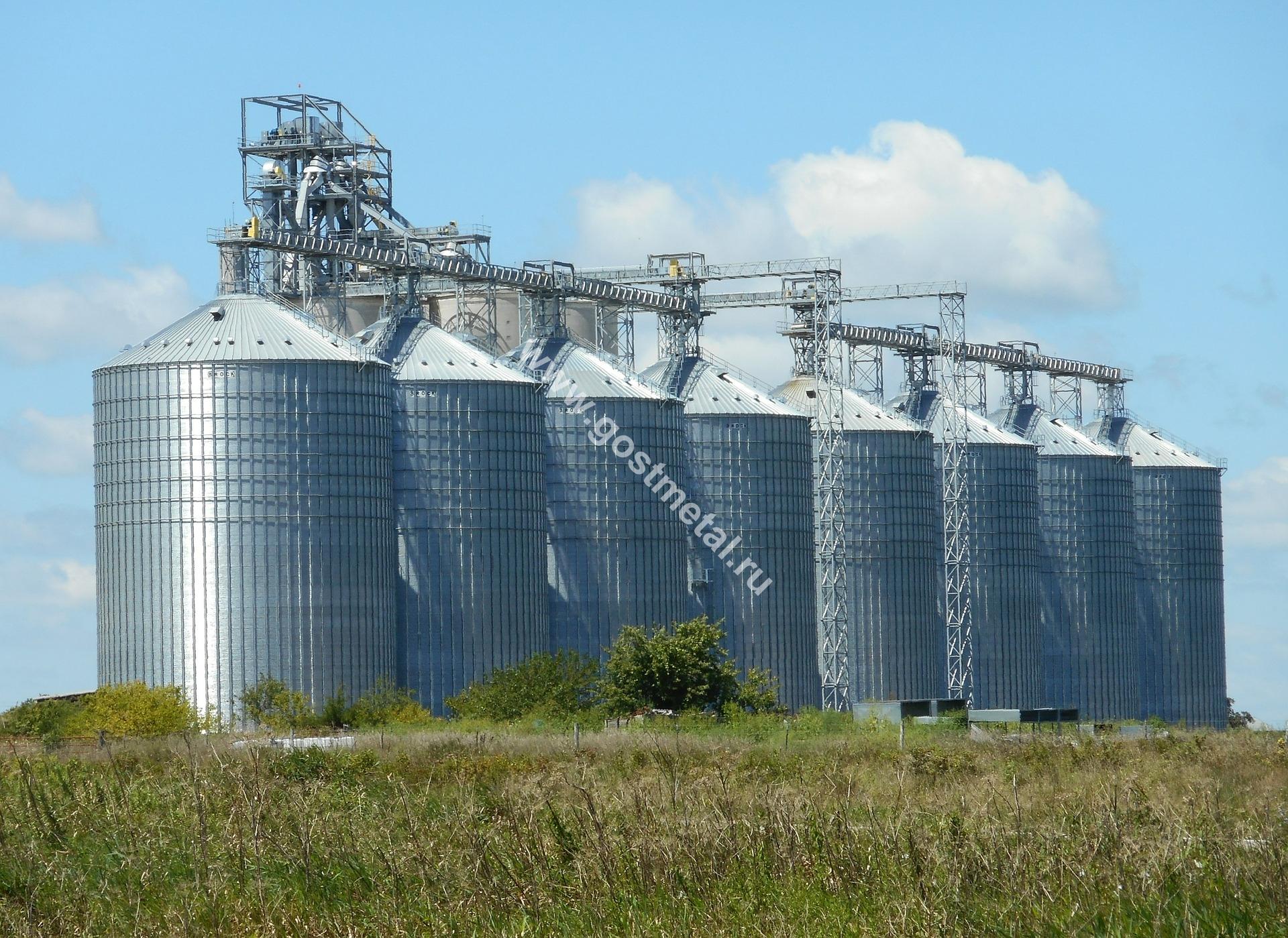 Производство силосов для зерна в Москве от ГОСТ Металл