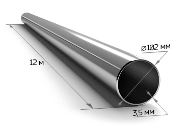 Труба электросварная 102*3,5 (12 м)