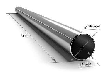 Труба электросварная 25*1,5 (6 м)