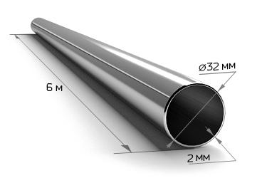 Труба электросварная 32*2 (6 м)