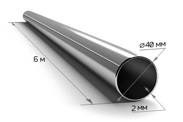 Труба электросварная 40*2 (6 м)