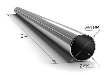 Труба электросварная 51*2 (6 м)