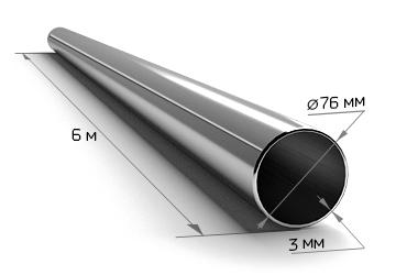 Труба электросварная 76*3 (6 м)