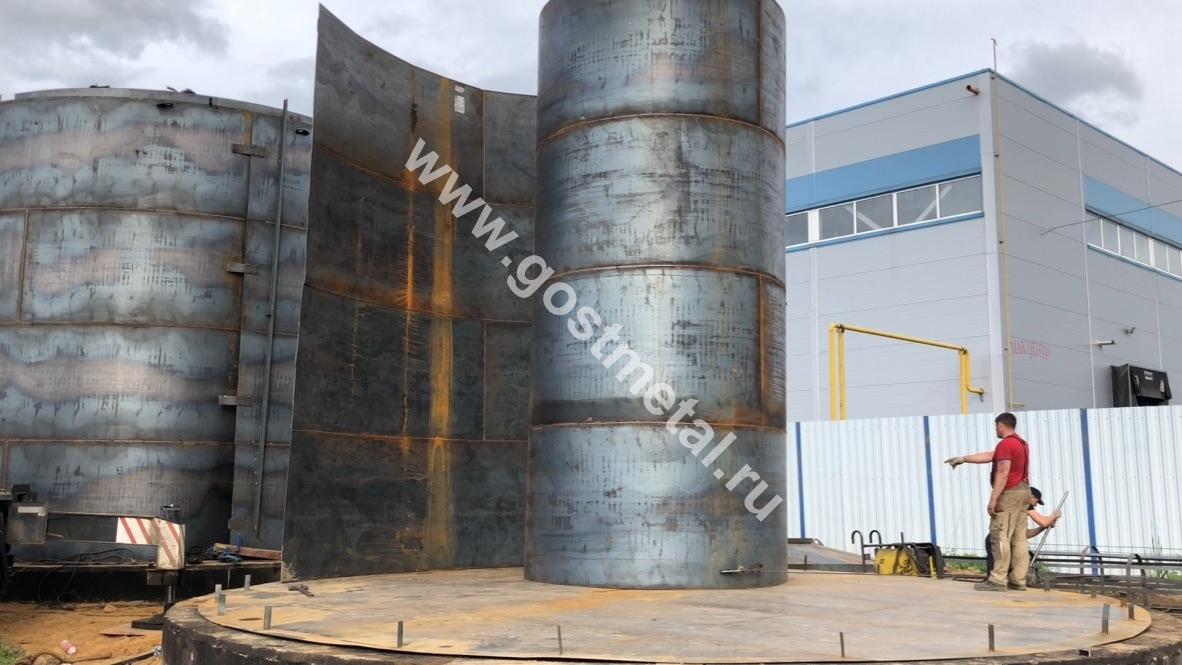Вертикальный резервуар для топлива от ГОСТ Металл