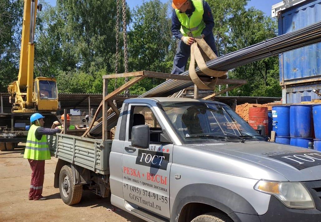 Доставка строительной арматуры и сетки в деревню Берсеневка, МО