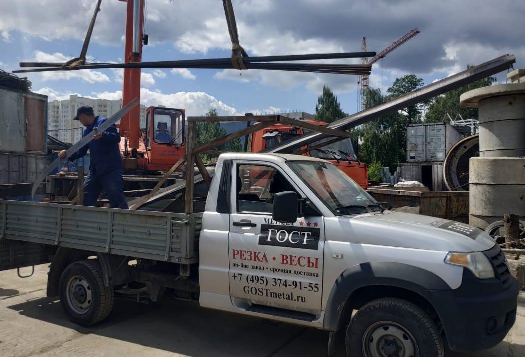 Доставка трубы профильной и арматуры в деревню Заболотье