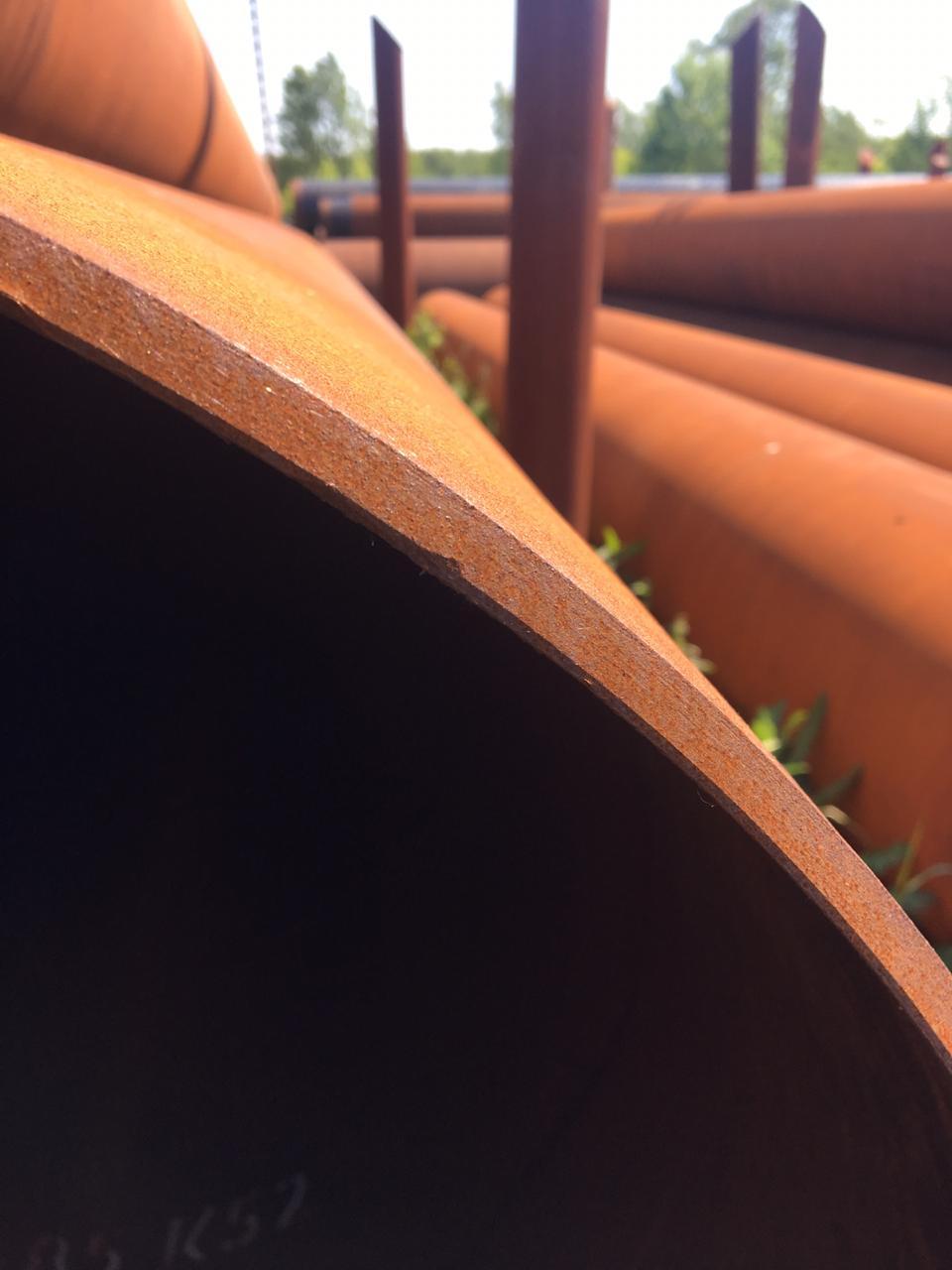 Трубы лежалые круглые