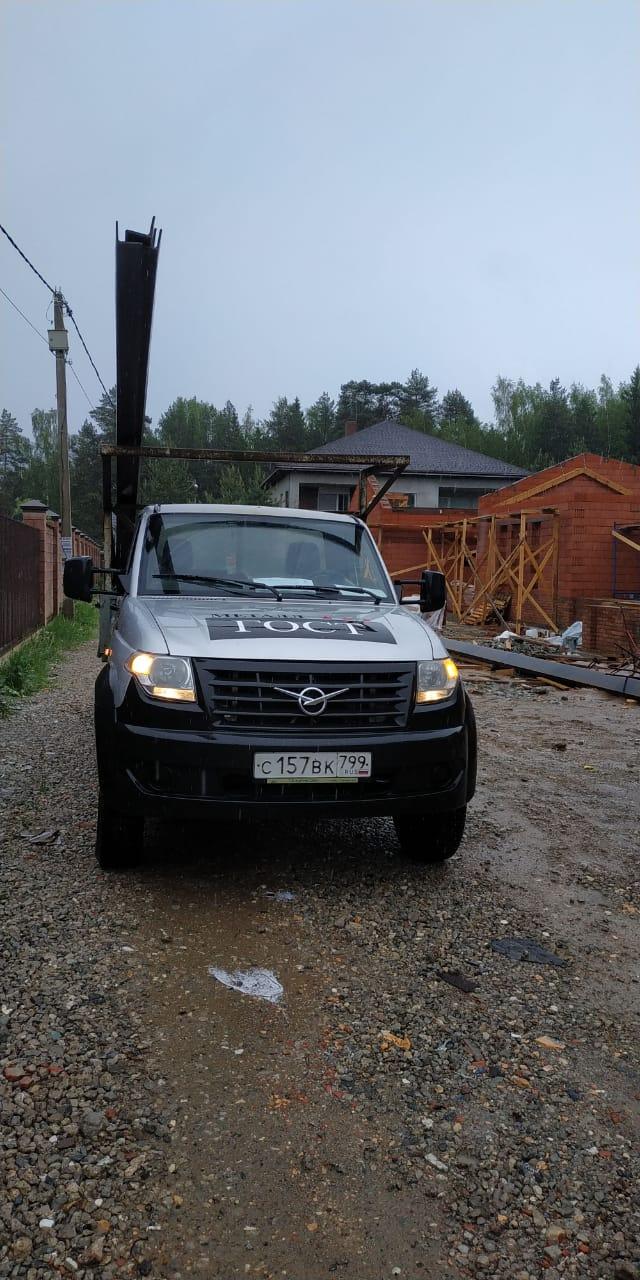 Для строительства нового объекта в село Марфино Московской области нам заказали партию уголка размера 100х100х7